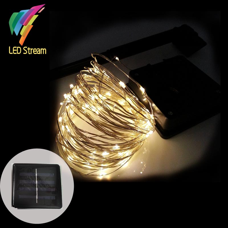 3aa Battery Operated 10m 100led Copper Wire String Fairy Lights Lamp Christmas Holiday Party Indoor Outdoor Homes Decor Light Lights & Lighting