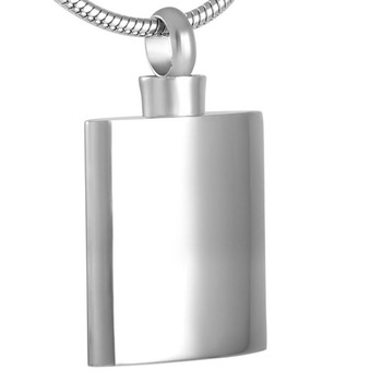 MJ8475 Polished and Waterproof  Flagon Ashes Keepsake Urn Necklace Stainless Steel Jewelry Cremation Pendant For Women Men