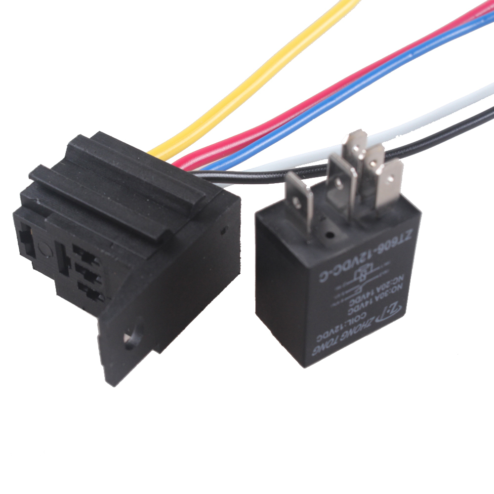 hight resolution of ee support 10 x car 12v 20a 30a relay socket for electric fuel pump horn kit 5p 5 wire with socket car styling xy01