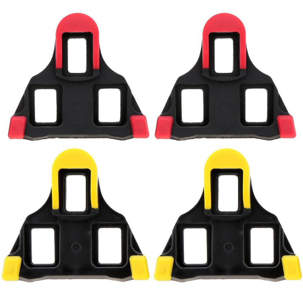 One set 2 x Bicycle Bike Self locking Pedal Cleats Set Yellow For Shimano SM SH11 SPD SL for road Mountain Bike accessories|Bicycle Pedal| |  - title=