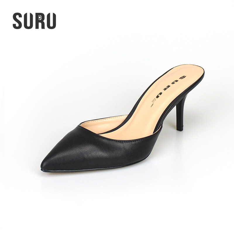 Aliexpress.com : Buy SURU Kitten Heel Mules Shoes Women 7cm Height ...