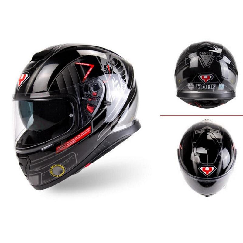 Motorcycle full face helmet  motocross racing casco motorbike capacete man woman with built-in sun visor