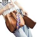 Color de moda de la Correa cubo bolso de Las Mujeres de Alta Calidad de Cuero de la pu Bolso de Hombro Desinger Bolsos de Las Señoras Crossbody Bags bolsa feminina