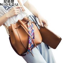 Mode farbe Strap eimer tasche Frauen Hohe Qualität pu-leder Umhängetasche Desinger Damen Crossbody Taschen bolsa feminina Handtaschen