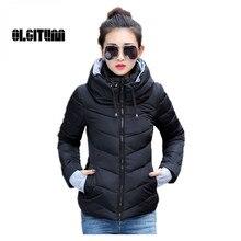 Women's Clothing Coat long sleeve warm light down padded winter jacket  hooded 2016 women parkas for women winter coat