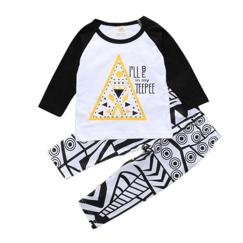 Комплекты осенней одежды для мальчиков комплект Мода 2017 г. письмо футболка + штаны, 2 предмета детская Костюмы брендовые комплекты Для мальч...
