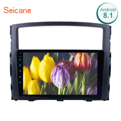 Rádio do Carro para Mitsubishi Pajero V97 Seicane e v93 2006 2007 2008 2009 2010 2011 2013 Android 8.1 9 Polegada 2din Gps Multimedia Player