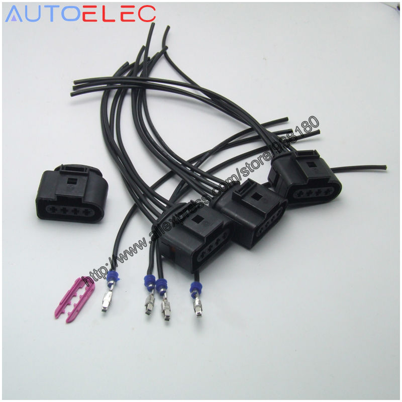 4 wire harness reviews online shopping 4 wire harness reviews on 4 Wire Harness set 4 ignition coil 4 pin 1j0973724 connector repair kit 1j0 973 724 for a4 a6 rs4 rs6 a8 vw passat audi adapter wiring harness 4 wire harness