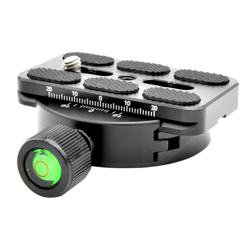 Quick Release Plate 60mm Universal QR Clamp with 70mm Quick Release Plate Aluminum Alloy Tripod Compatible for Arca Swiss