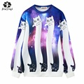 2016 Autumn and Winter Women Hoodies Printed Cat Women's Casual Loose Sweatshirt Hoody Sudaderas New