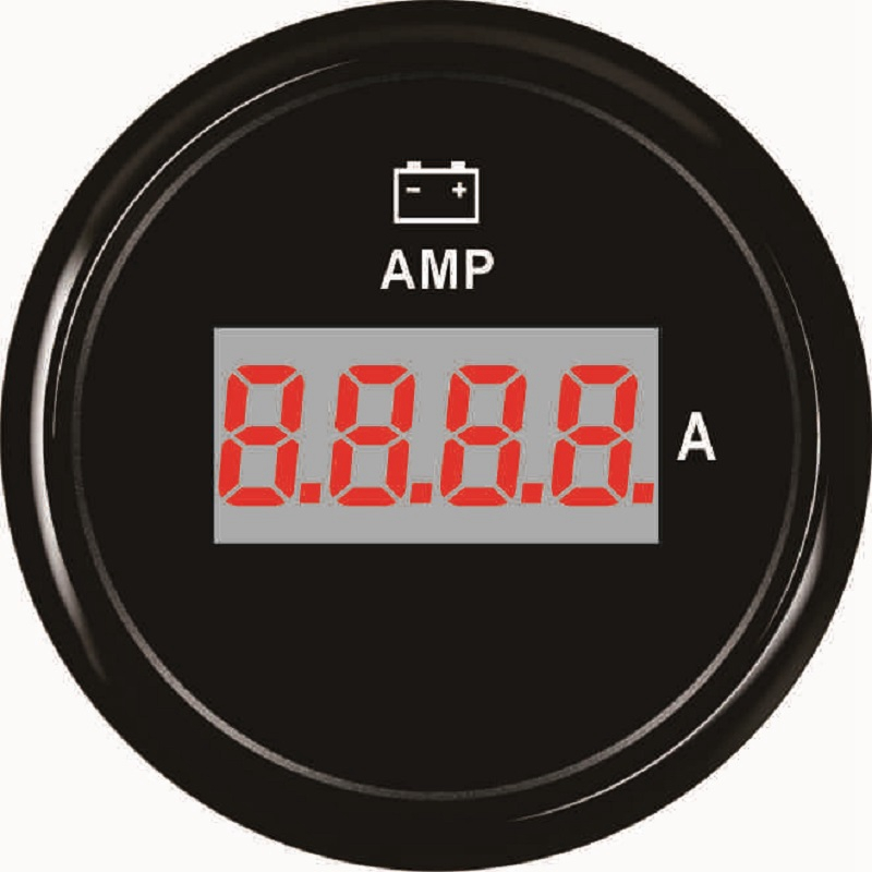 52mm Digital Car Ampermeter Lcd Display Amp Meter Gauge For Truck Auto Boat With Red Led Backlight + / - 80a Amp Gauge Utmost In Convenience