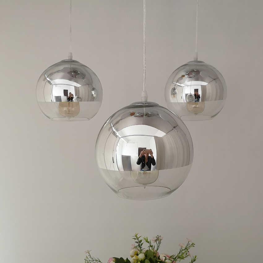 Скандинавский стеклянный подвесной светильник 15 20 25 30 см стеклянный подвесной светильник для столовой ресторана домашнего промышленного внутреннего освещения