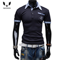 Mens Polo Shirt Brands 2016 Male Short Sleeve Fashion Casual Slim Pocket Pattern Printing Polos Men  Jerseys   X