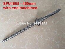 1 шт. SFU1605 ШВП 450 мм BK12/BF12 конец механической обработке + 1 шт. 1605 BallScrew Гайка для ЧПУ маршрутизатор