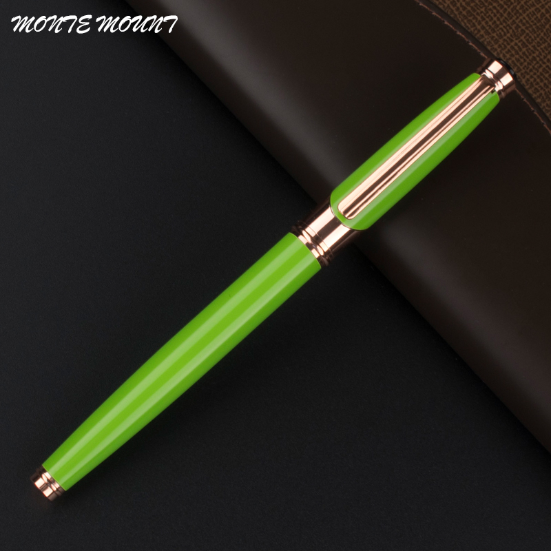 MONTE MOUNT Green luxury Superior Business Office signing Roller ball Pen New Writing Supplies Office segal business writing using word processing ibm wordstar edition pr only
