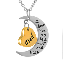 IJD9468  Stainless Steel Heart Urn Necklace Religious Cremation Ashes Keepsake Unisex Memorial Jewelry for Son & Dad