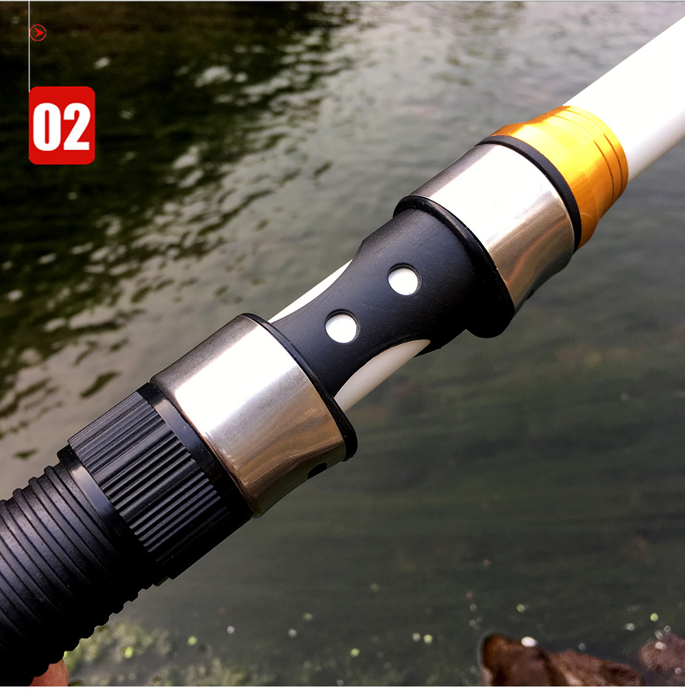Carp Fishing, Rod feeder Hard FRP Carbon Fiber Telescopic Fishing Rod fishing pole 2.1M -3.6M 17