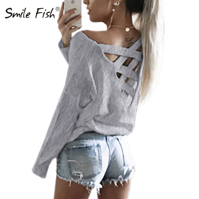 Spring Autumn Women Shirts Long Sleeve O-Neck Solid Fashion Casual Blouses Shirt Tops Sexy Hollow Out Blusas GV485