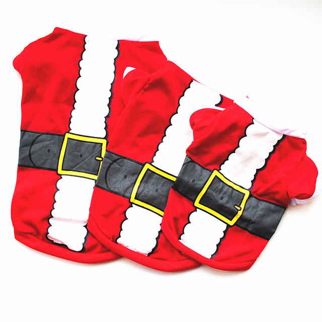 XS/S/M/L Pet Dog Clothes Christmas Costume Cute Cartoon Clothes For Small Dog Cloth Costume Dress Xmas apparel for Kitty Dogs P2 5