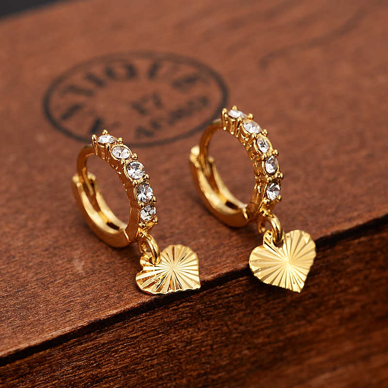 Pendiente de gota de cristal dorado etíope/Nigeria/Kenia/Ghana color dorado Dubai africano árabe Medio Oriente joyería mamá regalos
