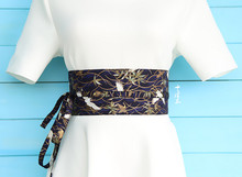 2019 japanese style cotton ceinture femme original homemade kimono waist belt cummerbunds retro elastic Girls Bow