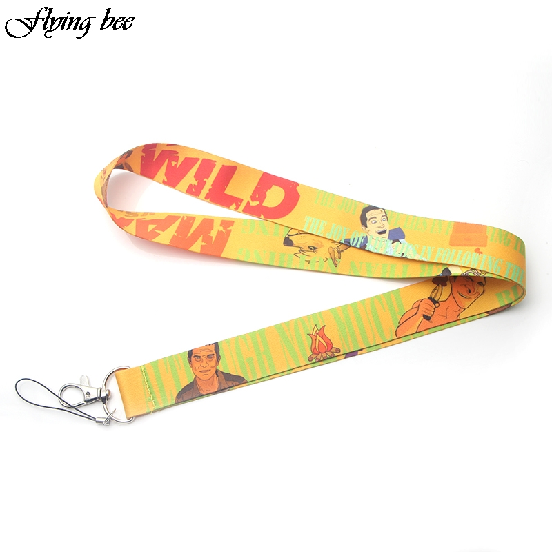 Flyingbee Women Fashion Lanyard Keychain Lanyards For Keys Badge ID DIY Mobile Phone Rope Neck Straps Accessories Gifts X0074