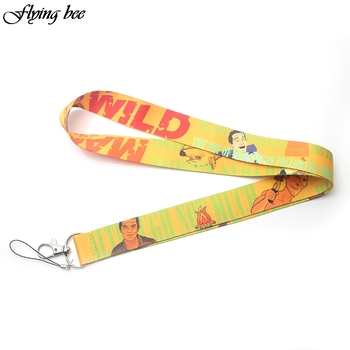 Flyingbee Women fashion Lanyard Keychain Lanyards for keys Badge ID DIY Mobile Phone Rope Neck Straps Accessories Gifts X0074 dmlsky kiki s delivery service lanyard keychain anime lanyards for keys badge id mobile phone rope neck straps gifts m3865