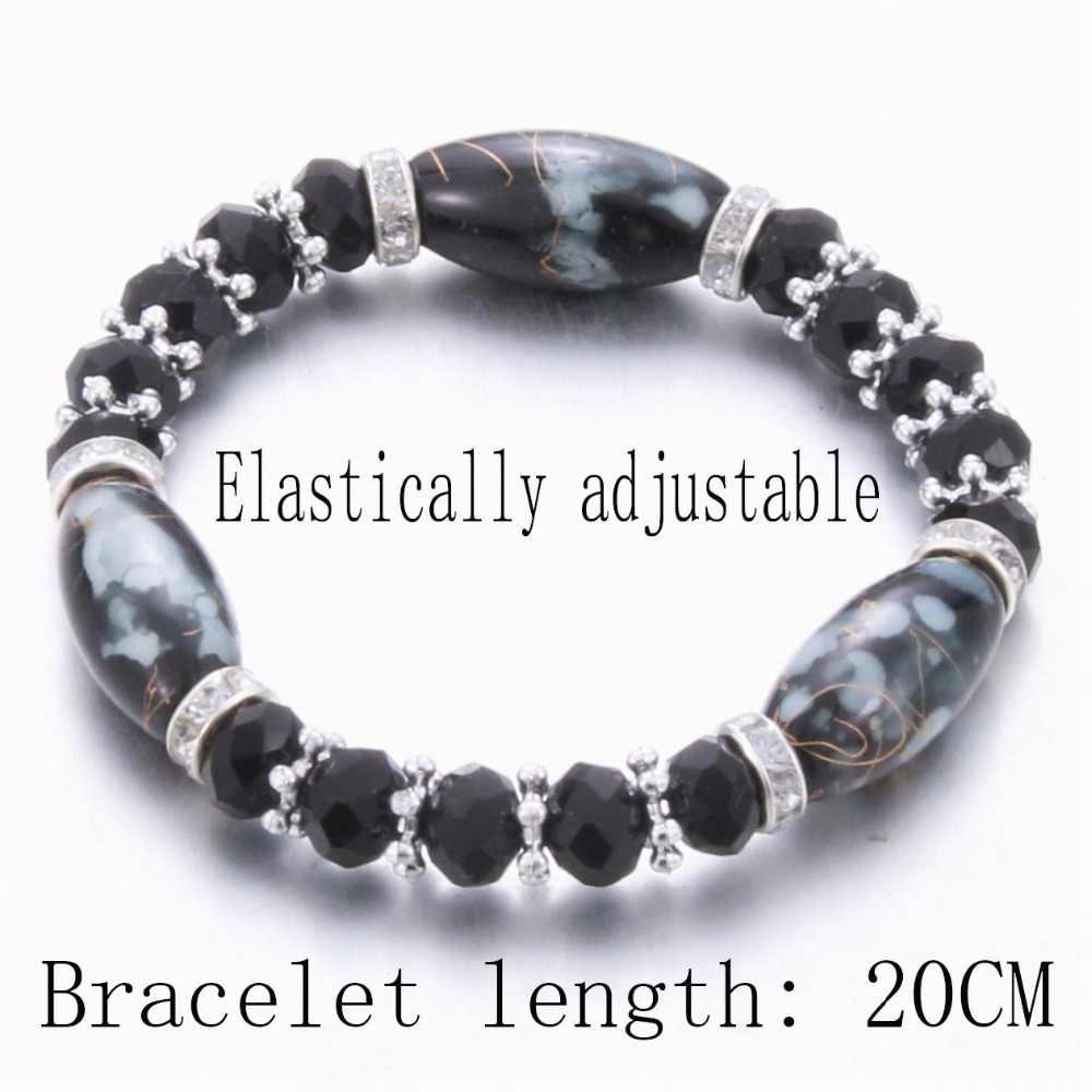 Модный амазонит природный камень streche браслет эластичный pulserase для мужчин и женщин модные ювелирные изделия бусины создаваемые талисманы diy
