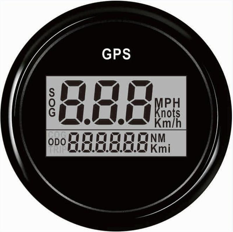 1pc Brand New 52mm GPS Speedometer Automobile Digital GPS Odometers 9-32V for Boat Automobile with Antenna Black and White Color 1pc 0 130km h gps speedometers 85mm speed milometers 0 80mph odometers 9 32v for auto with gps antenna and backlight