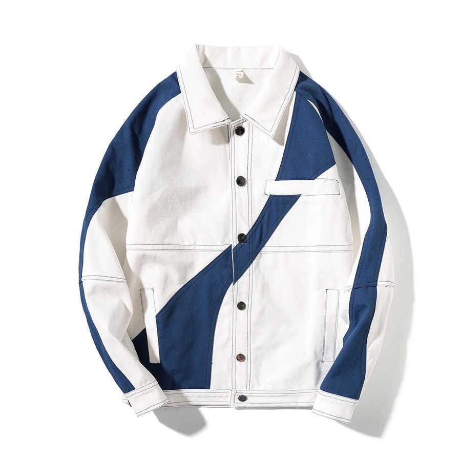 ボンバージャケットジーンズ男性ヒップホップ原宿ストリート韓国日本スタイルチャケータ男性ビッグサイズメンズ 2018 ファッション服 5J008