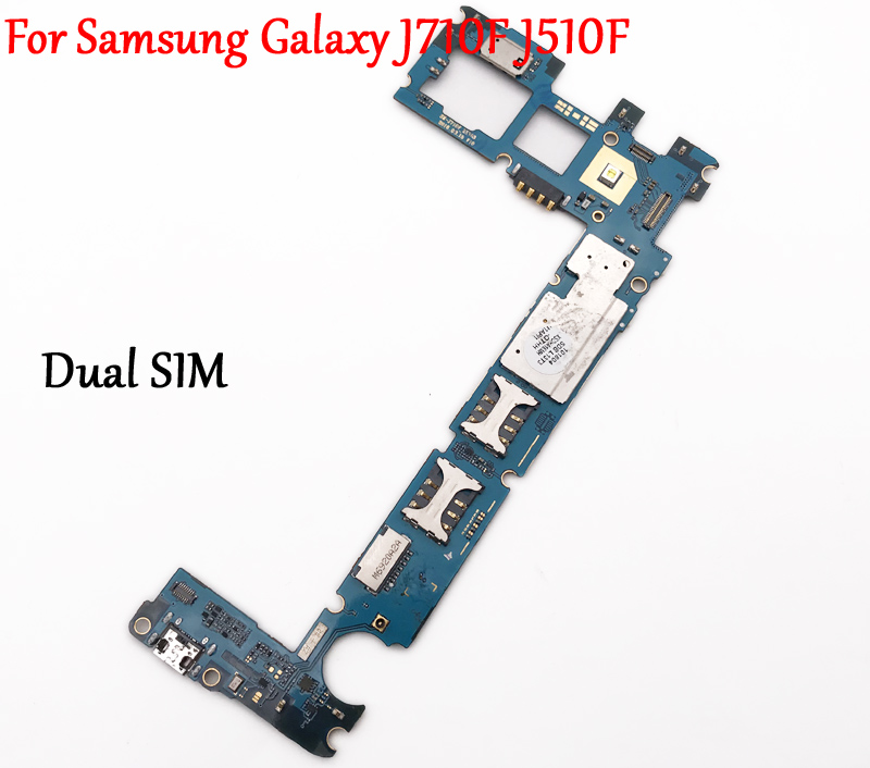 Tested Work Unlock Motherboard For Samsung Galaxy J5 J7 2016 J510F J710F Dual SIM Logic Circuit Electronic Panel With Full Chips