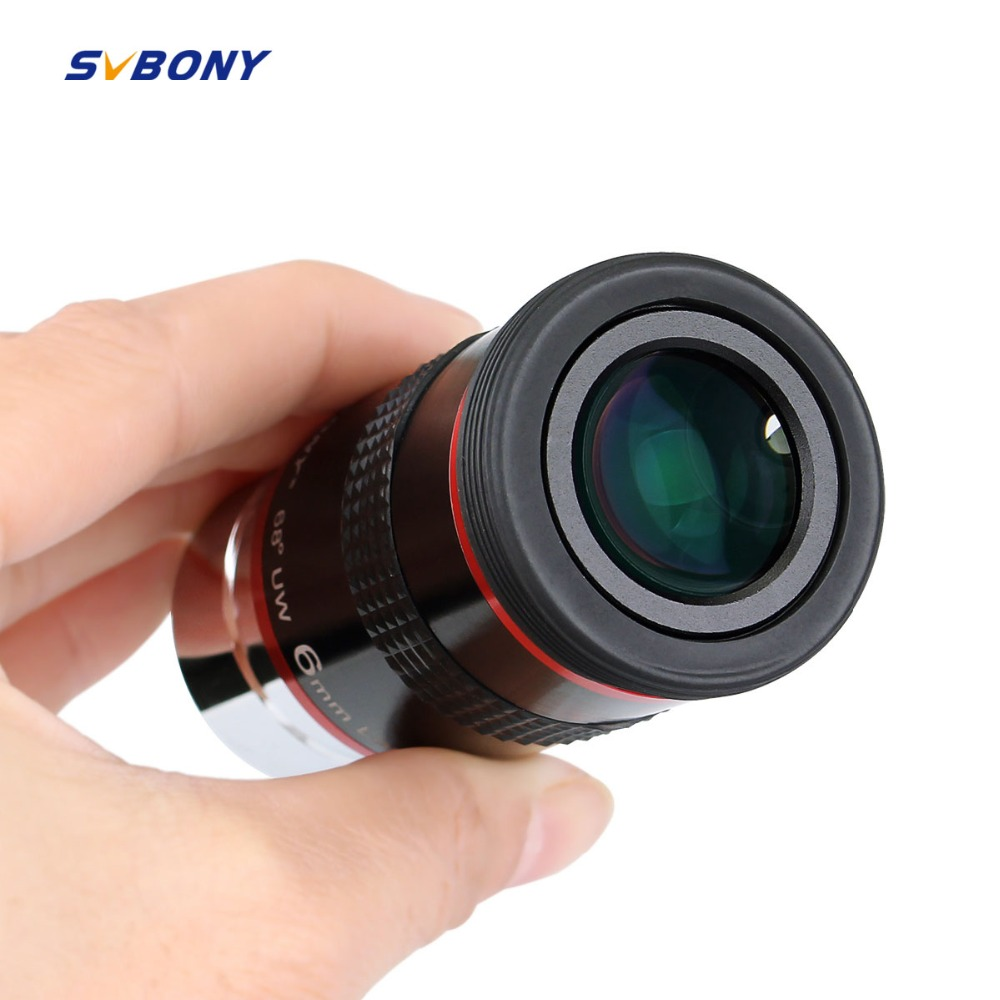 Svbony Eyepiece FMC 1.25 68 Degree Ultra Wide Angle 6mm 9mm 15m 20mm for Astronomical Telescope Monocular Hot 1 pc F9152A