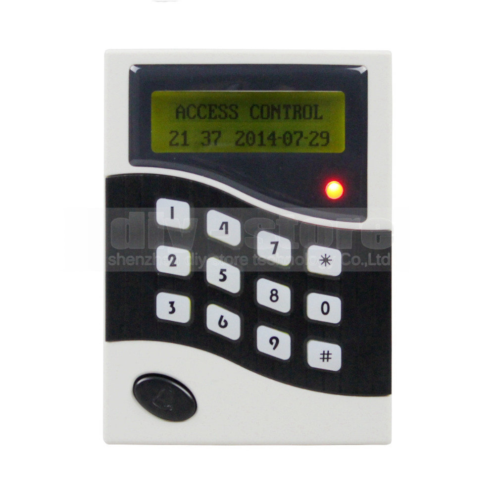 DIYSECUR LCD 125KHz  RFID Keypad Password ID Card Reader Door Access Controller + 10 Free ID Key Tag B100 usb pos numeric keypad card reader white