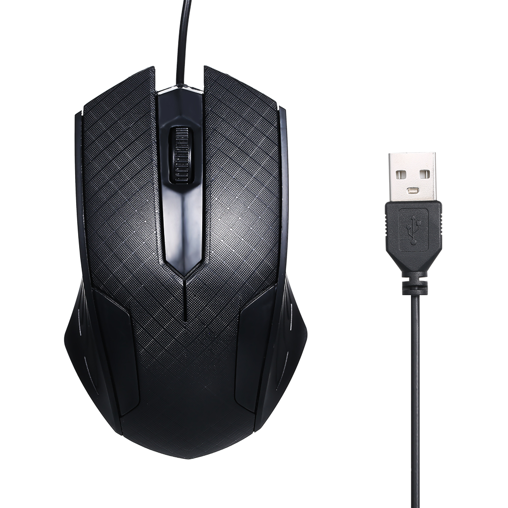 Arealer 1600 Dpi Mouse 3-Button USB Optical Wired Gaming Mouse With 1.1M Cord Mice Compatible For Windows 7/8/10/XP MacOS