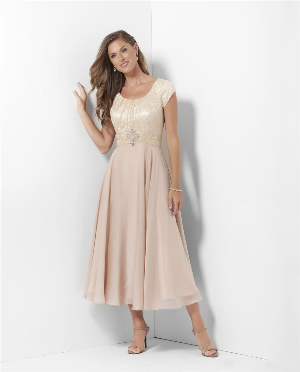 Blush Bridesmaid Dresses 2018 Scoop Hollow Back Lace Sweep Train Pastels Chiffon Beach Garden Wedding Guest Gowns Maid Of Honor