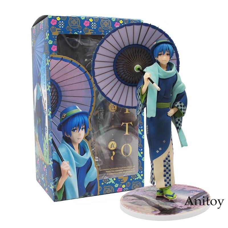 Anime Vocaloid Kaito Hanairogoromo Kimono Flower Cloth 1/8 Scale PVC Figure Collectible Model Toy 18cm neca marvel legends venom pvc action figure collectible model toy 7 18cm kt3137
