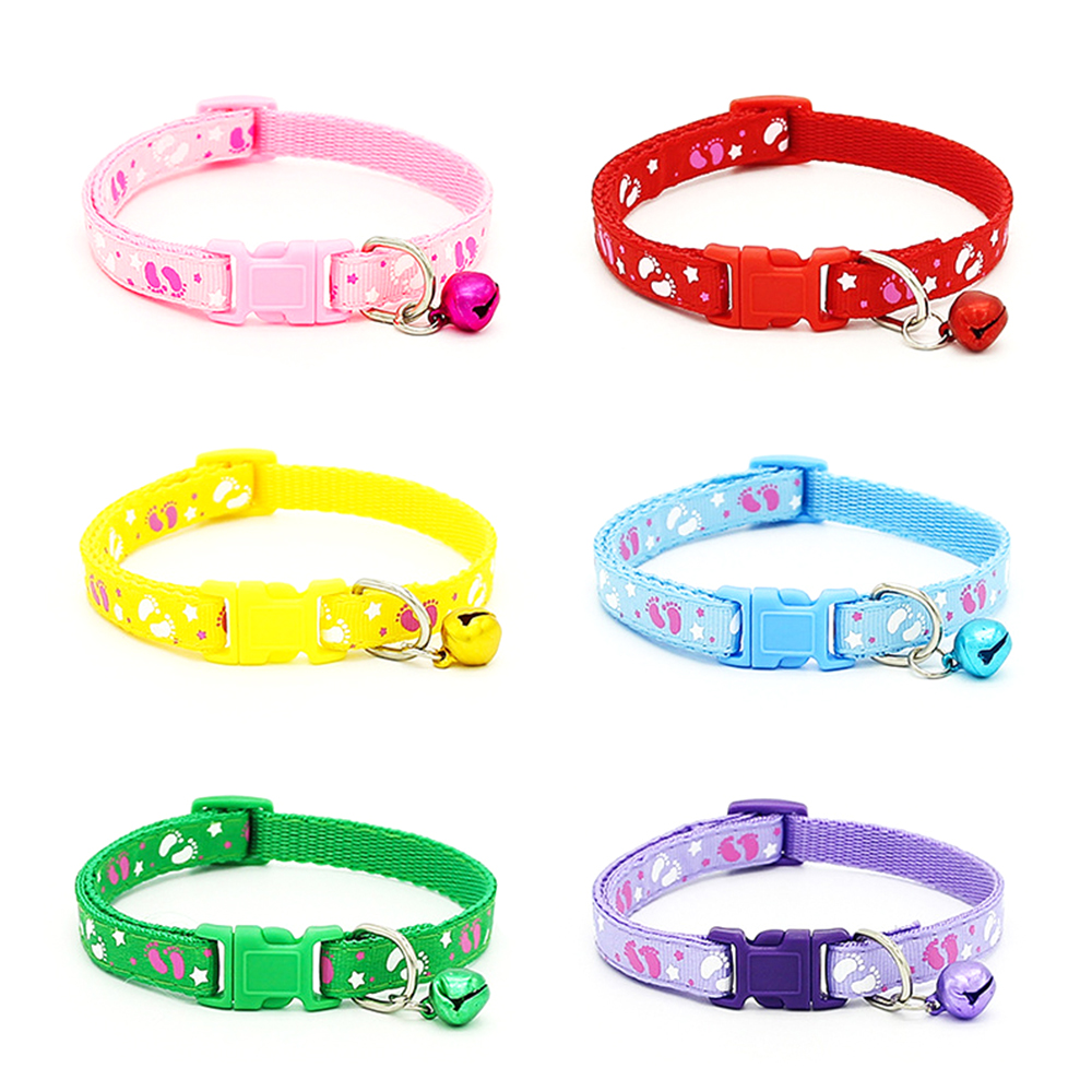 10 Cat Collar Breakaway Collar For Cats With Bell Cat Collars Adjustable Quick Release Puppy Collar Chihuahua Cat Leash Pet Product (18)