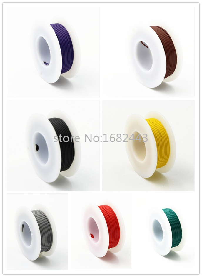10 Meters 24AWG UL1007 Electronic Wire 1.4mm PVC 24 AWG Electronic Cable 30meters white 28awg ul1007 cable electronic wire to internal wiring electrical wires diy cables 100ft 28 awg