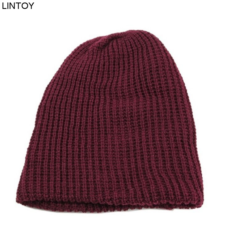 1PC Knit Men's Women's Baggy Beanie Oversize Winter Warm Hat  Slouchy Chic Crochet Knitted Cap Skull hot winter beanie knit crochet ski hat plicate baggy oversized slouch unisex cap