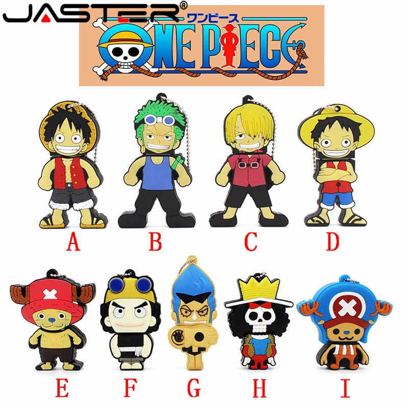 JASTER Pen Drive One Piece Usb Flash Drive 4gb 8gb 16gb 32gb 64GB USB 2.0 Cartoon Luffy U Disk Drive  Pendrive Nami Usb Stick