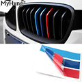 25cm*5cm 3pcs Per Set PVC front Grill Stripes decals M power sport stickers for BMW M3 M5 M6 E46 E39 E60 E90 car styling