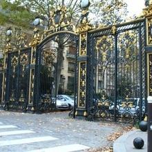 black wrought iron gates security gates vinyl fence gate