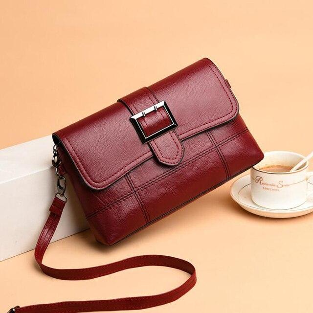 REPRCLA Brand Designer Women Shoulder Bag Fashion Handbag and Purse PU Leather Crossbody Bags for Women 2019 New Black&Red 2