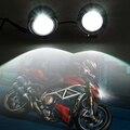 2 Unids Super Brillante Llevó La Luz Delantera de la Bicicleta Moto LED Piezas De La Motocicleta Luz de Niebla del Led 12 v Faro Delantero punto
