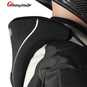 Image 2 - Yeni moto rcycle boyun koruyucu moto yarış boyun koruma neckguard yansıtıcı fermuar 3D servikal omurga koruyucu donanım parçaları
