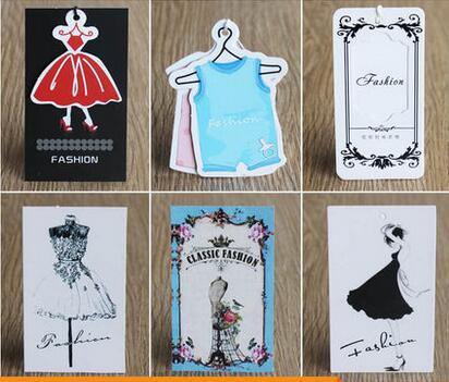 The spot tag custom-made clothes tag card to make the label custom logo clothing store womens hang tag