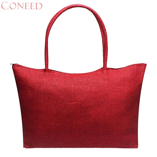 Charming Nice Coneed Best Giftnew Fashion Simple Candy Color Large Straw Beach Bags Women Casual Shoulder