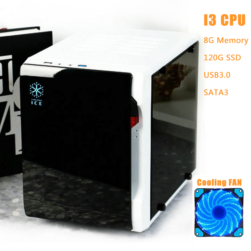 ФОТО DIY Desktop Computer Case Chassis Transparent Side Mini PC Case Support Full Size Video Card HTPC Case