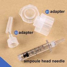 50шт шприц адаптер или лекарство иглы ампулы головки для гиалуронового пистолета гиалуроновая ручка