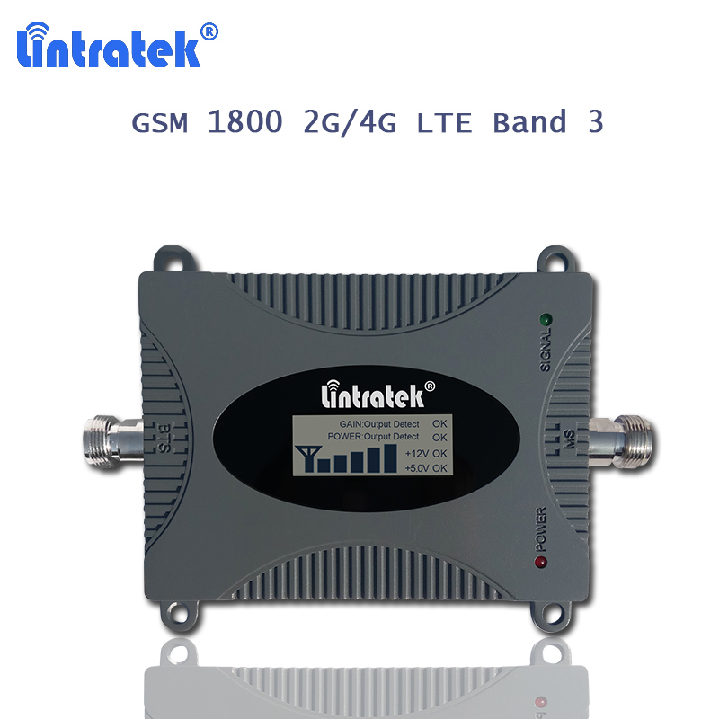 Lintratek Gsm Repeater 1800 Mhz Amplifier 4g 1800 Band 3 Repeater 4g Lte Mobile Phone Celular Signal Booster  Booster Only S31